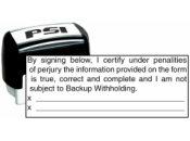BKUPWTHLD - Backup Witholding Stamp PSI