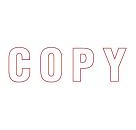 "XL-23025 - ""Copy"" Red"
