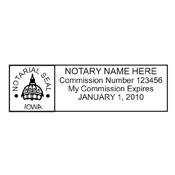 Huk Rubber Stamp Co. is the place for quality Iowa notary stamps. We carry a variety of different mounts to fit your needs.